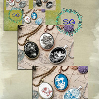 DIA de Los Muertos Art - Digital Collage Sheets - 30x40mm Ovals for Jewelry Supplies, Party Favors, Arts & Craft Projects