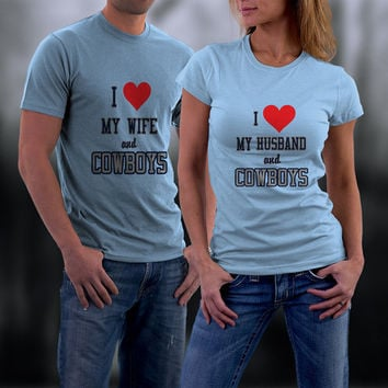 Cowboys, Dallas Cowboys Couples Shirts, Personalized Couple Shirts. Ladies and Men Tshirt