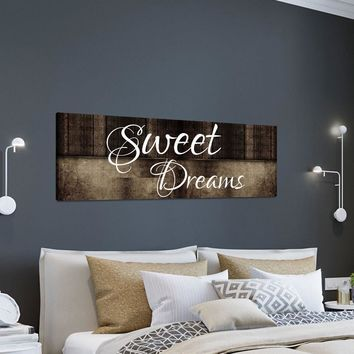 Sweet Dreams Wall Art Canvas, Sweet Dreams Above The Bed