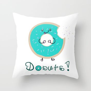 Donuts! Throw Pillow by CuteFoods
