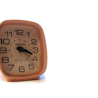 Vintage Pink Westclock Wind UP Alarm Clock