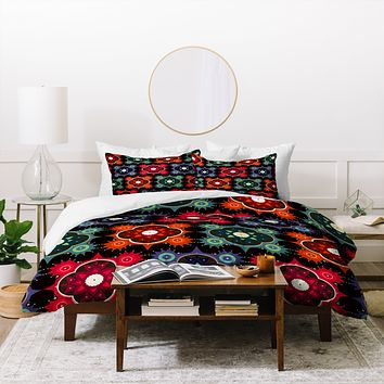 Sharon Turner Galaxy Flowers Duvet Cover