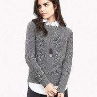 Banana Republic Womens Zip Back Crew Pullover