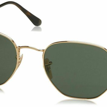 Ray-Ban RB3548N 001/57 Gold RB3548N Square Sunglasses Polarised Lens Category 3