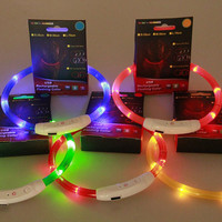 Rechargeable USB LED Dog Collar & Cat Collar