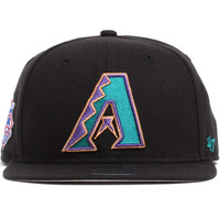 Arizona Diamondbacks Sure Shot Snapback Hat Black