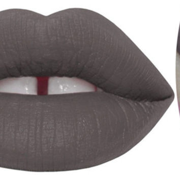 1pc CEMENT Nude Gray Black Lip Gloss Matte Velvet Lipstick Long Lasting VELVETINES Lip Stick Makeup Lipgloss  132