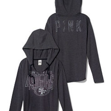 San Francisco 49ers Tunic Hoodie - PINK - Victoria's Secret