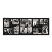 Black Wood Wall Hanging Picture Photo Frame (9 Opening)