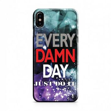 Nike every damn day complex iPhone X Case