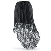 High Low Lace Skirt                                - New Age, Spiritual Gifts, Yoga, Wicca, Gothic, Reiki, Celtic, Crystal, Tarot at Pyramid Collection