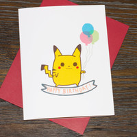 Pokemon Pikachu Happy Birthday Card
