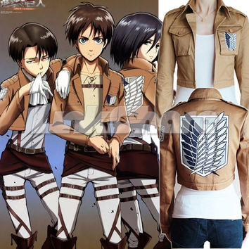 USA SALE Attack on Titan Shingeki no Kyojin Legion Cosplay Costume Jacket Coat