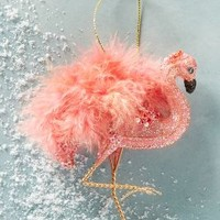 Feathered Flamingo Ornament by Anthropologie Pink One Size Holiday