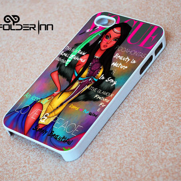 Pocahontas Vogue iPhone 4s iphone 5 iphone 5s iphone 6 case, Samsung s3 samsung s4 samsung s5 note 3 note 4 case, iPod 4 5 Case
