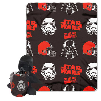 Cleveland Browns NFL Star Wars Darth Vader Hugger & Fleece Blanket Throw Set