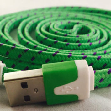 IPHONE 5 & 6 (6 feet long), charger cords, fabric cords, 6 feet long, 2 meter, long charger cords, iphone 5, iphone 5, usb, chargers, iphone