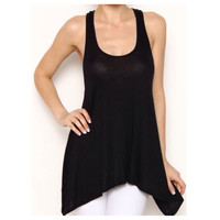 In  Style 'Must Have' Black Knit Tank