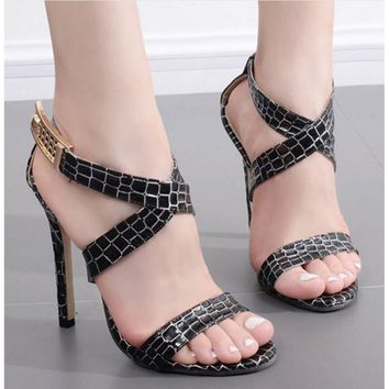 High Heel Shoes Open Toe Latin Salsa Ballroom Dance Pumps Summer Fashion Sandals