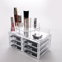 Makeup Cosmetic Clear Acrylic Organiser Organizer Display w Drawers #119