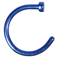 "18 Gauge 5/16"" Blue Anodized Titanium Nose Hoop 