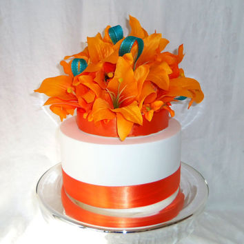 Orange Tiger Lilly Cake Topper