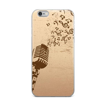 iphone 6 case music, music phone case, gifts for musicians, music lover, musical note gift for musicians, iPhone 5/5s/Se, 6/6s, 6/6s Plus
