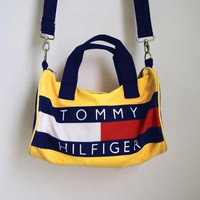 TOMMY HILFIGER Ancient Bucket Bag Fashion Women Men Backpack With Shoulder Bag Two Style