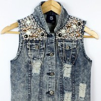 Embellished Jean / Denim Vest