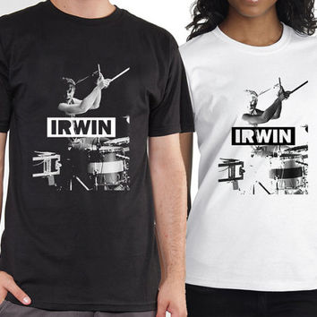 ashton irwin, 5 second of summer,5sos tshirt black and white tshirt ,womens tshirt and mens tshirt