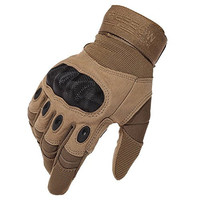 Reebow Gear® Military Hard Knuckle Tactical Gloves Full Finger for Army Gear Sport Shooting Paintball Hunting Riding Motorcycle Brown M