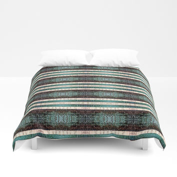 Vintage Striped Pattern - Westin Inspired Duvet Cover by Sheila Wenzel