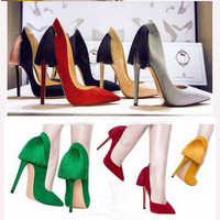 Pointed Toe Tassels High Heel Shoes = 4814729220