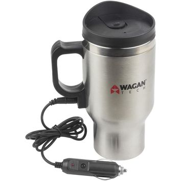 Wagan Tech 12-volt Deluxe Double-wall Stainless Steel Heated Travel Mug WGN6100
