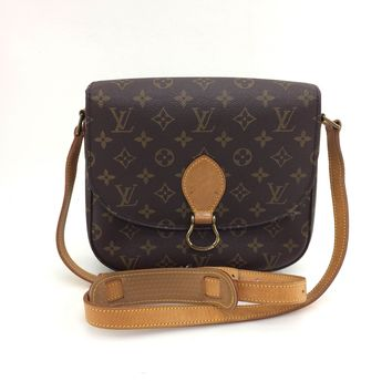 AUTH Louis Vuitton Monogram Canvas leather Saint Cloud GM Shoulder Bag