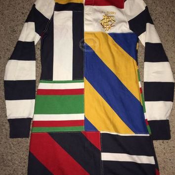Sale!! Vintage Womens POLO RALPH LAUREN Rugby dress Retro 2004 ralph lauren clothing