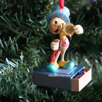 Licensed cool JIMINY CRICKET MATCHBOOK PINOCCHIO DISNEY STORE SKETCHBOOK CHRISTMAS ORNAMENT