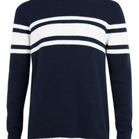 Ltd Anchorage Navy Stripe Lambswool Sweater