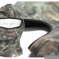 Outdoor soft equipment riding fishing hunting cycing on sumer or warm winter mask bionic camouflage fleece multipurpose hat scarf = 1957888772