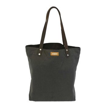 DAY TOTE | Charcoal Canvas