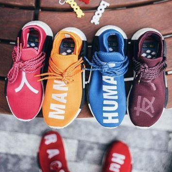Adidas Leisure Shoes NMD Human Race Running Sports Shoes Colorful