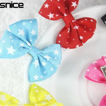isnice 10 Pcs Star Heart 2 inch girls headwear Bow Hairpin Hair Clips for Girl hair accessories Flower Gum for Hair