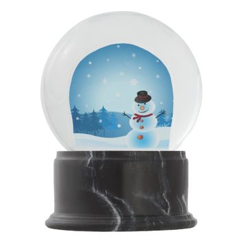 holiday snowman snow globe