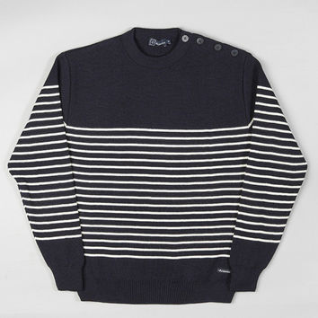 Armor-Lux Dumet Striped Sailor Sweater Navy/Nature