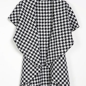 Sleeveless Asymmetric Woolen Trench Coat Shawl