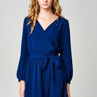 Royal Blue Silk Road Dress