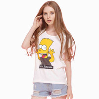 Cream Simpson Print T-Shirt