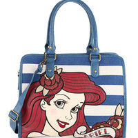 Disney The Little Mermaid Ariel Striped Bag