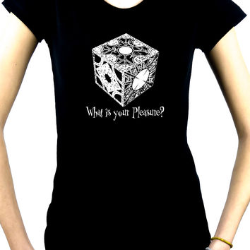 Puzzle Box Women's Babydoll T-shirt Hellraiser Pinhead Horror Clothing