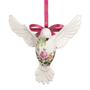 Royal Albert Old Country Roses Dove of Peace Ornament | Wayfair
